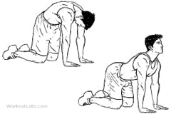 man stretching back and neck