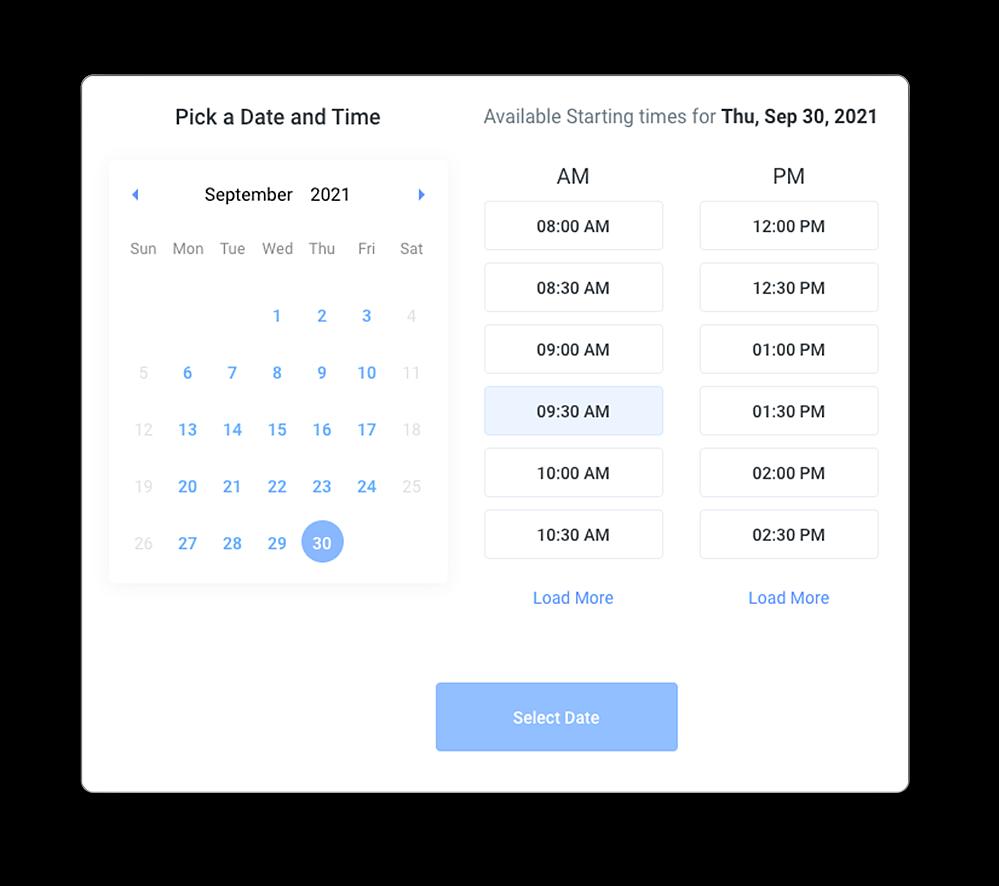 ChiroHosting - CRM - Booking Widget