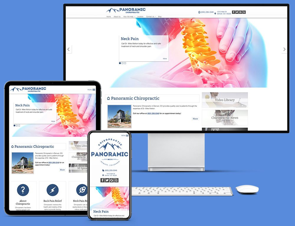 ChiroHosting's N8 Chiropractic Websites are the best online marketing asset for chiropractors whether being displayed on desktops, tablets, or smartphones.