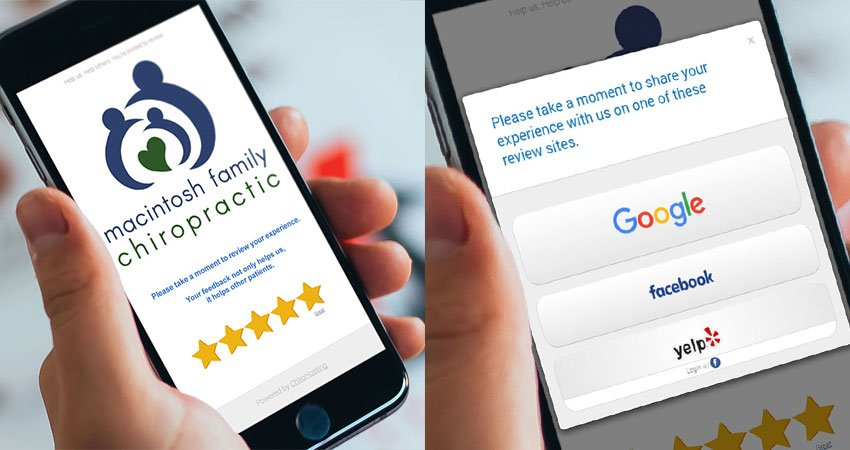5-Star review is provided with easy links to share their positive experience online