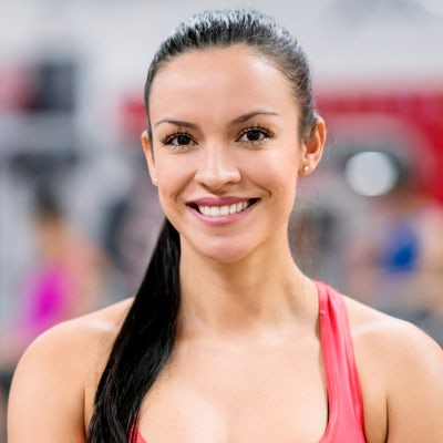 Portrait of a beautiful woman at the gym