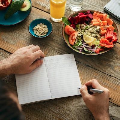 Healthy lifestyle diet food Man healthy food