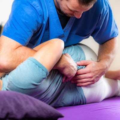 Physical Therapy, Stretching, Senior Woman