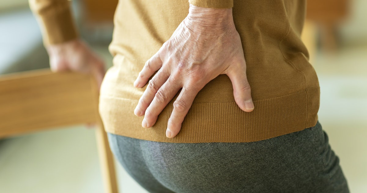 Senior men of low back pain