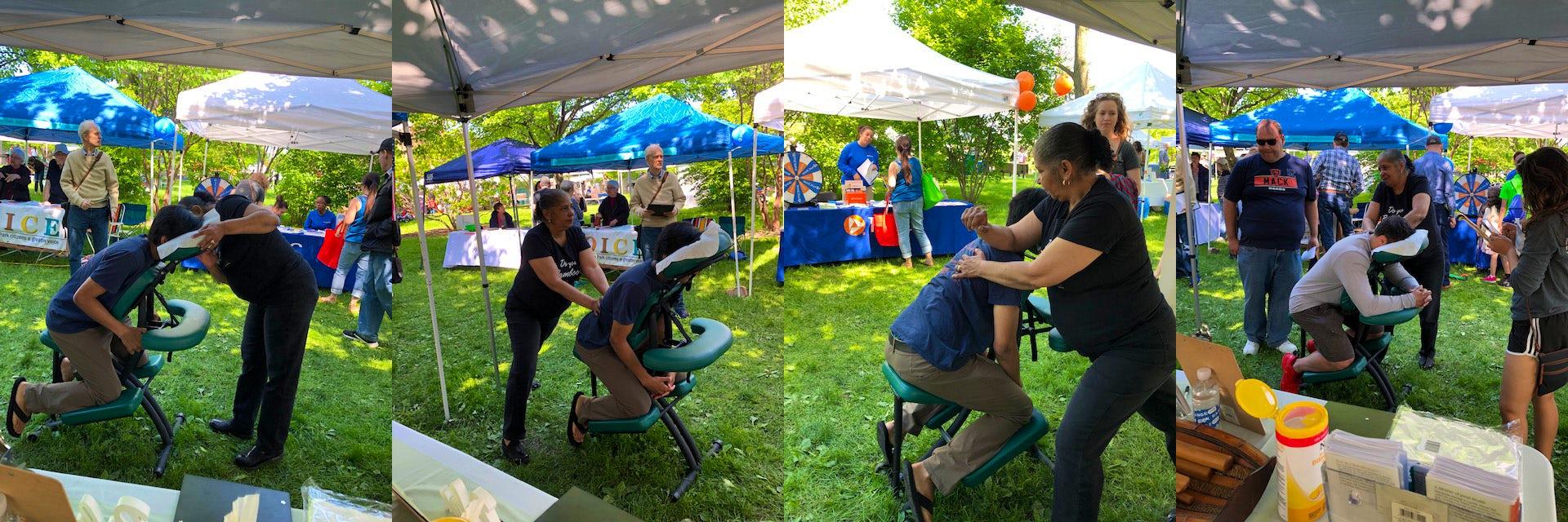 massage corporate events